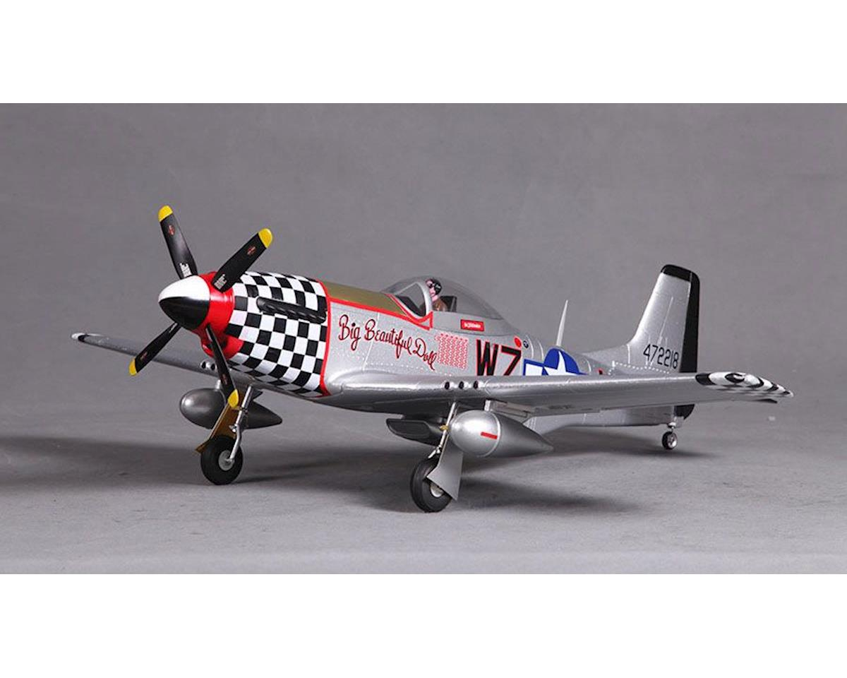 FMS P-51D Mustang V2 Plug-N-Play Electric Airplane (Big Beautiful Doll) (800mm)