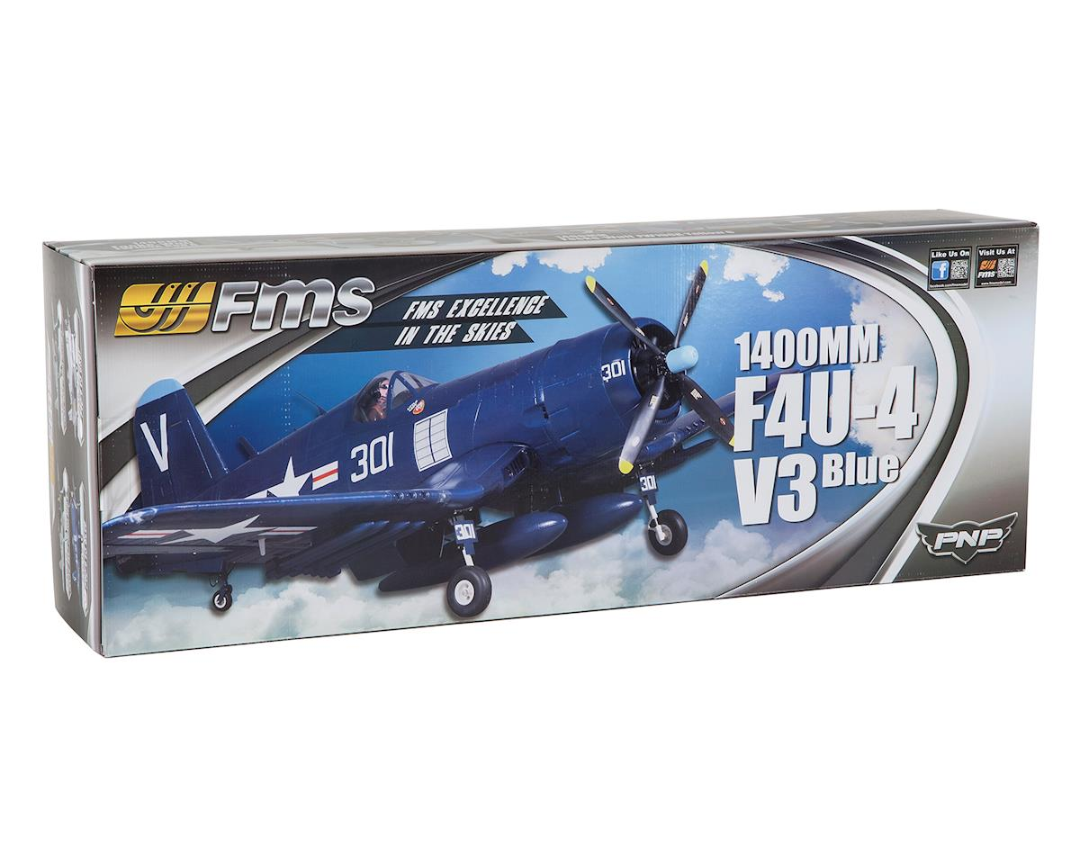 FMS F4U-4 Corsair Warbird Plug-N-Play Electric Airplane (1400mm) (Blue)