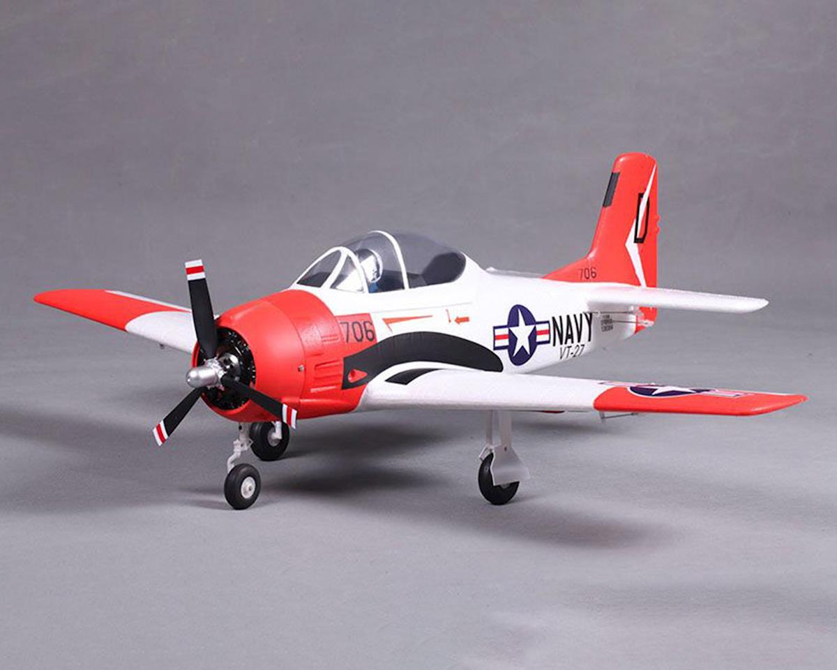 FMS T-28 V2 Plug-N-Play Electric Airplane (Red) (800mm)