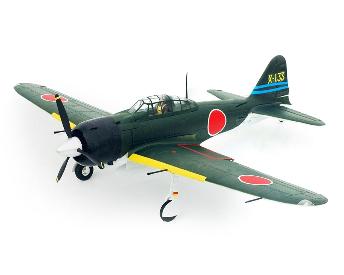 FMS A6M3 Zero Warbird Plug-N-Play Electric Airplane (1400m) (Gray)