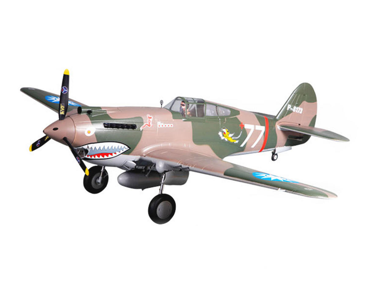 P-40B Warbird Plug-N-Play Electric Airplane (1400mm) (Warhawk Camo) by FMS