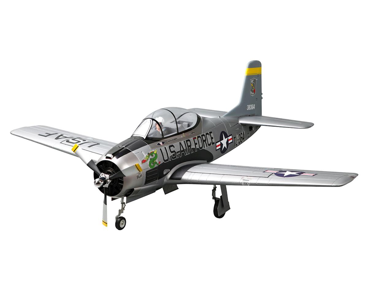 FMS T-28 Trojan V4 Warbird Plug-N-Play Electric Airplane (1400mm) (Silver)