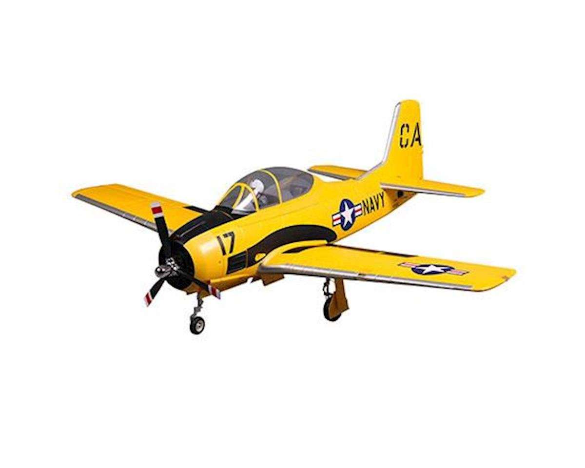 FMS T-28D V4 Plug-N-Play Electric Airplane (Yellow) (1400mm)
