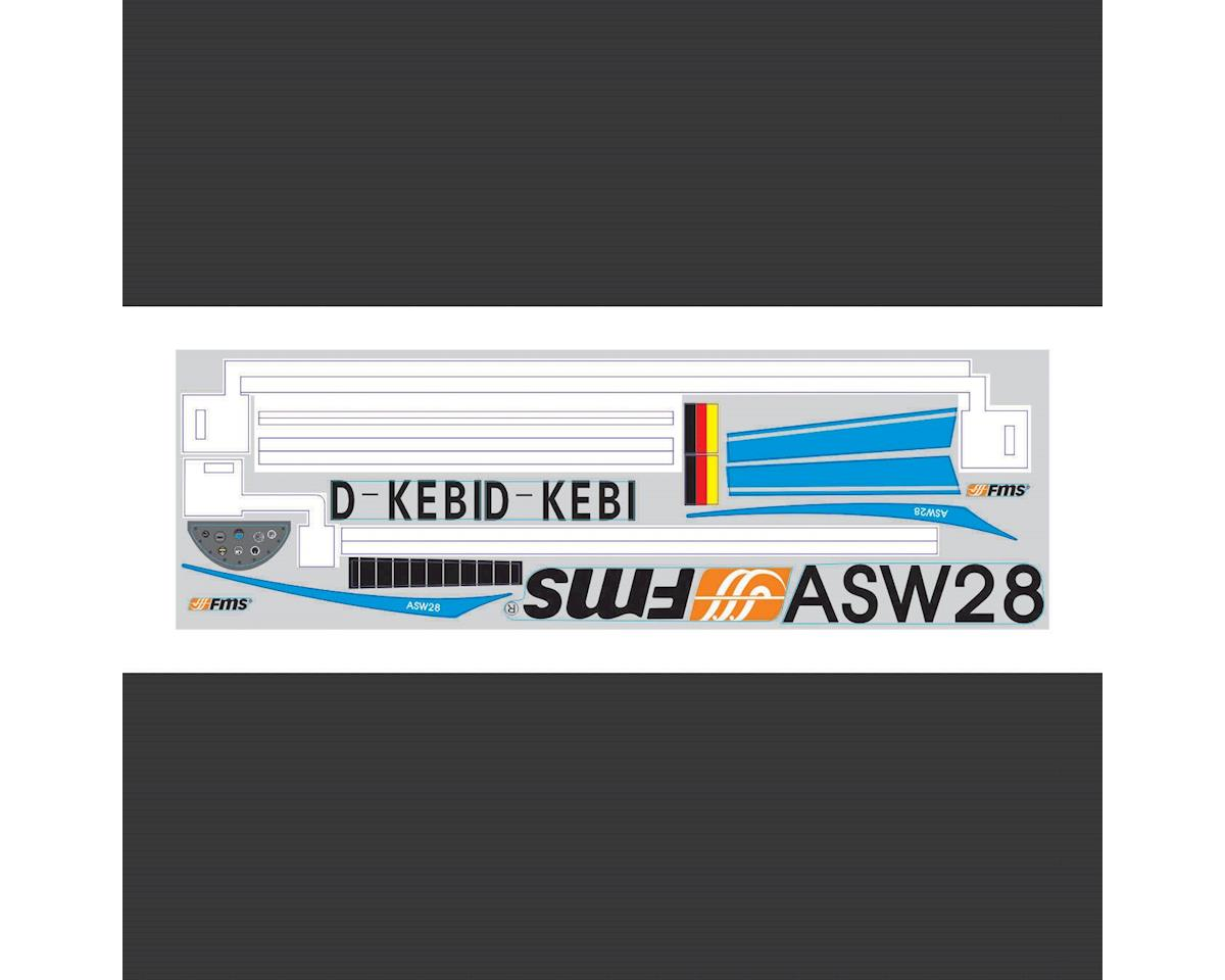 FMS Sticker: ASW28 2300mm