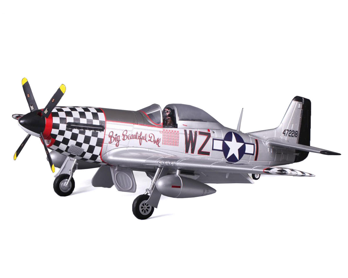 FMS P-51D Mustang V8 Warbird Plug-N-Play Airplane (1450mm) (Big Beautiful Doll)