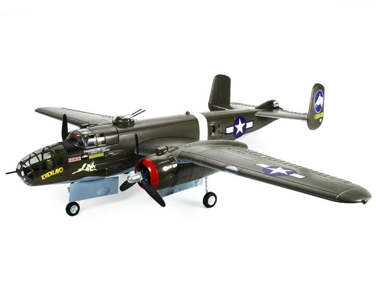 FMS B-25 Mitchell Warbird Plug-N-Play Electric Airplane (1470mm) (Green)