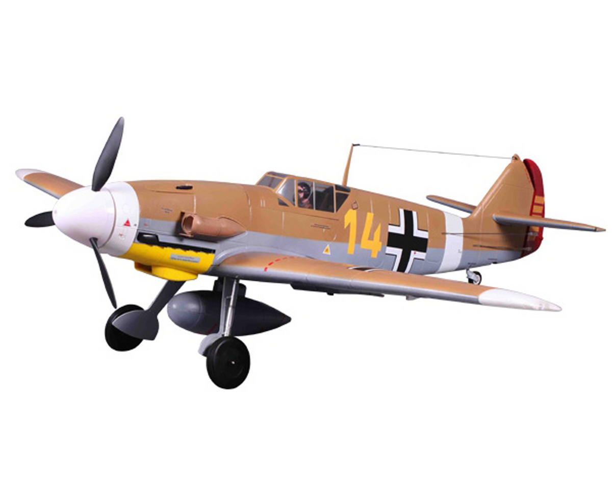 FMS Bf 109 Messerschmitt Warbird Plug-N-Play Electric Airplane (1400mm) (Brown)