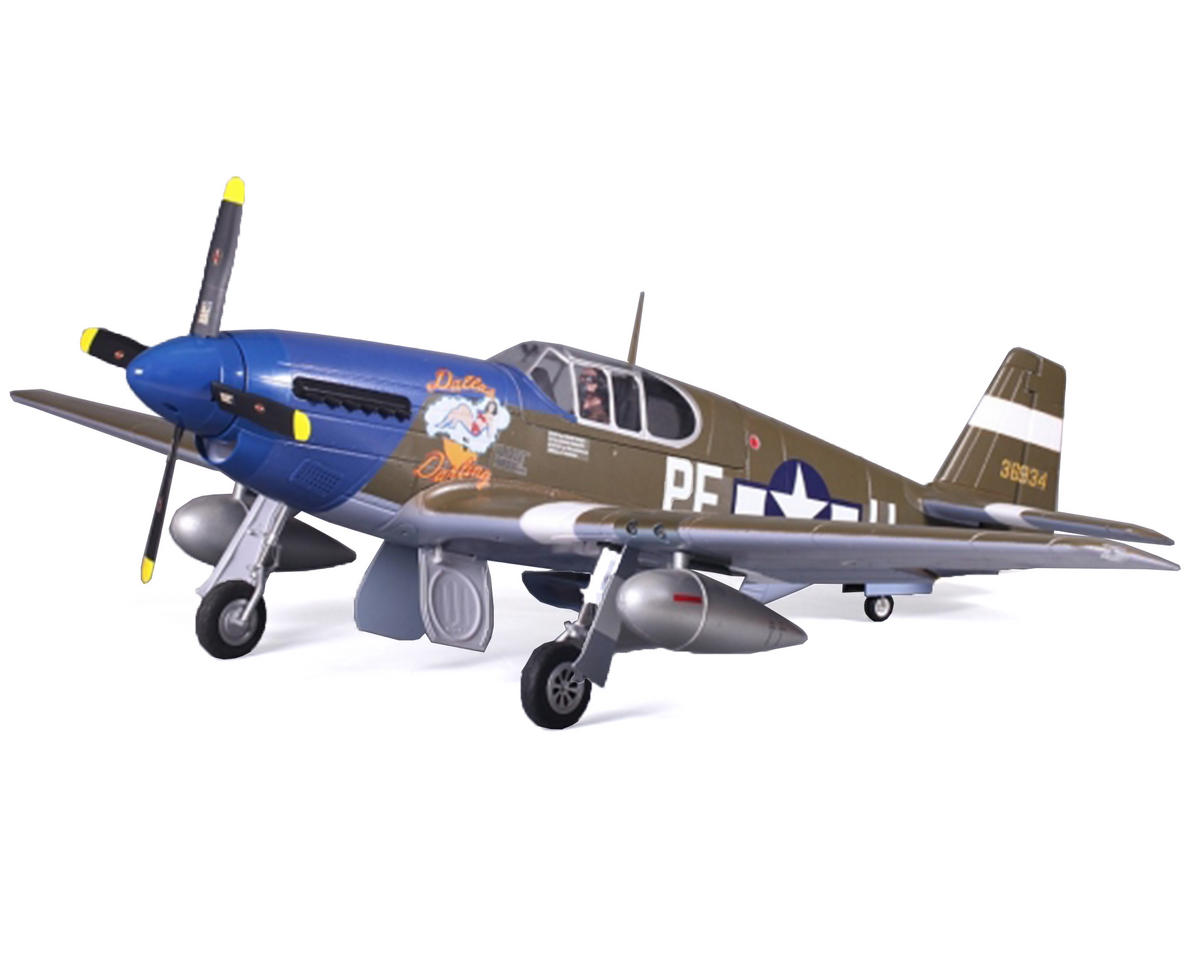 FMS P-51B Mustang Warbird Plug-N-Play Airplane (1450mm) (Dallas Darling)