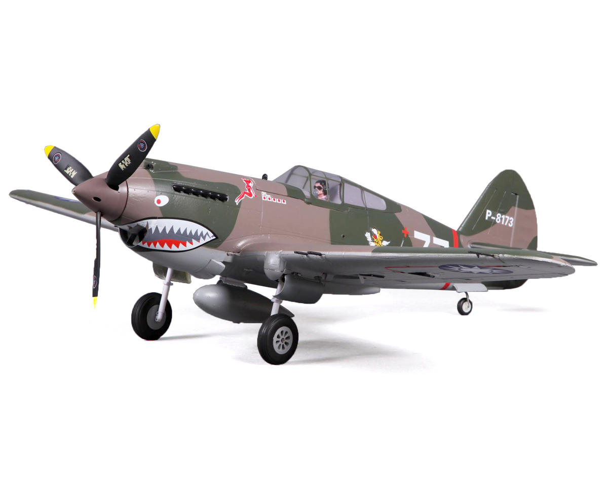 P-40B Warbird Plug-N-Play Electric Airplane (980mm) (Flying Tiger) by FMS