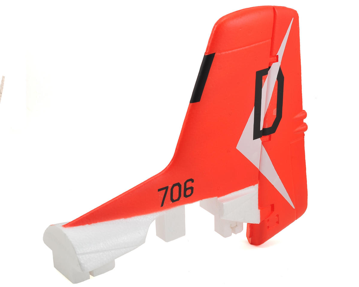 FMS T-28 Trojan V3 Vertical Stabilizer (Red)