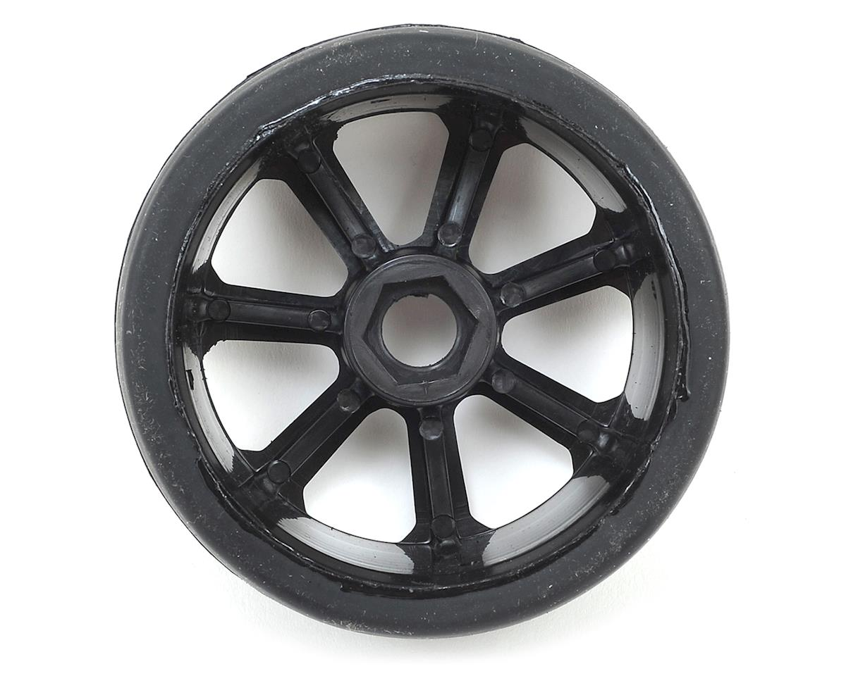Flash Point 17mm 1/8 Premounted GT Belted Rubber Tires (Black) (2) (Super Soft)