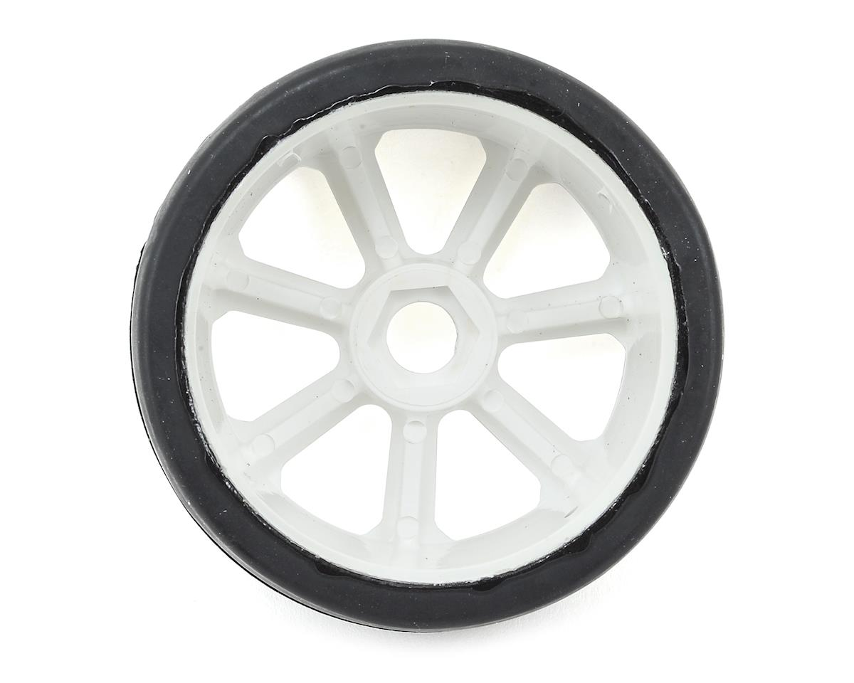 Flash Point Racing 17mm Hex 1/8 Pre-Mounted GT Belted Rubber Tires (White) (2) (Soft)