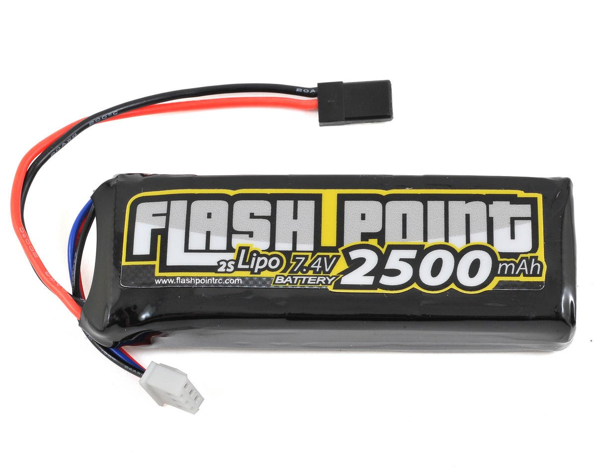2S LiPo Receiver Battery Pack w/Balancer Plug (7.4V/2500mAh) by Flash Point