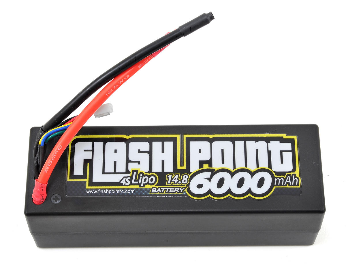 Flash Point Racing 4S Hard Case LiPo Battery Pack 90C (14.8V/6000mAh)
