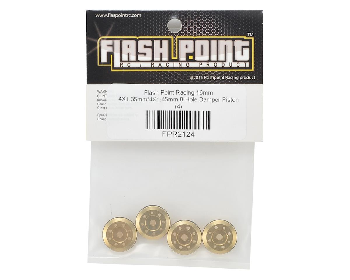 Flash Point 16mm Brass Damper Piston (4) (4X1.15mm/4X1.35mm 8-Hole)