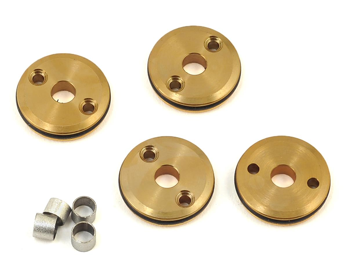 Flash Point 12mm Brass 1/10 Shock Piston (4) (2x1.5mm) (Kyosho Lazer ZX-5)