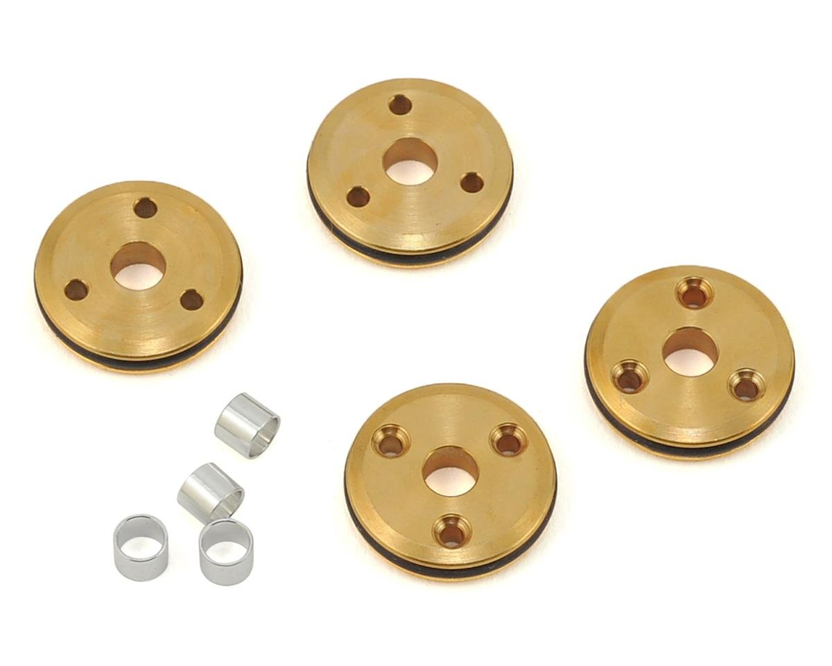 12mm Brass 1/10 Shock Piston (4) (3x1.3mm) by Flash Point