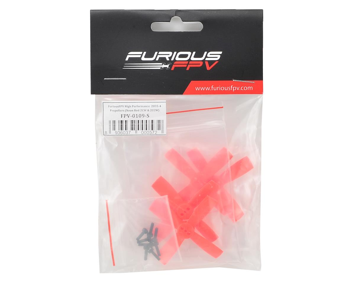 Furious FPV High Performance 2035-4 Propellers (2CW & 2CCW) (Red)