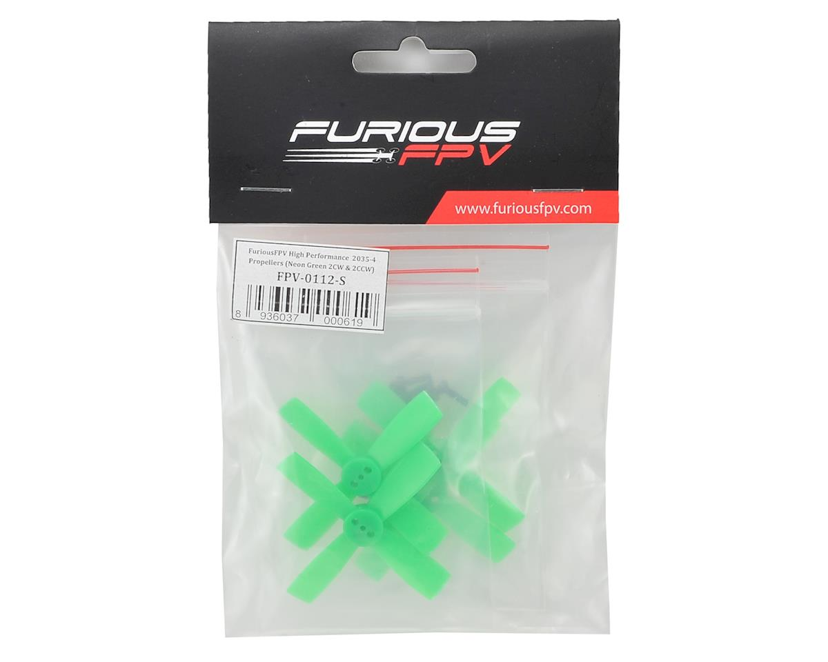 Furious FPV High Performance 2035-4 Propellers (2CW & 2CCW) (Green)