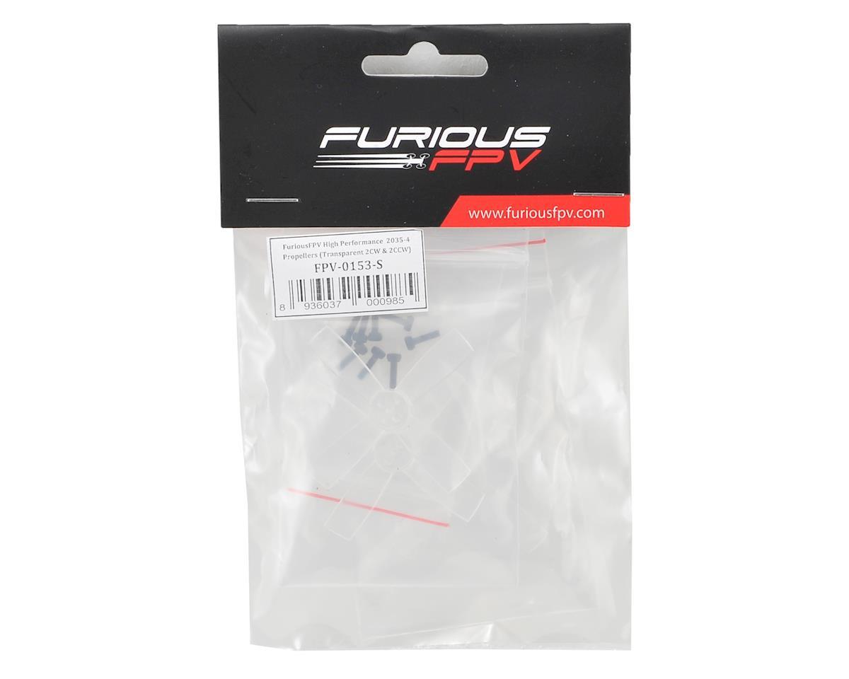 Furious FPV High Performance 2035-4 Propellers (2CW & 2CCW) (Transparent)