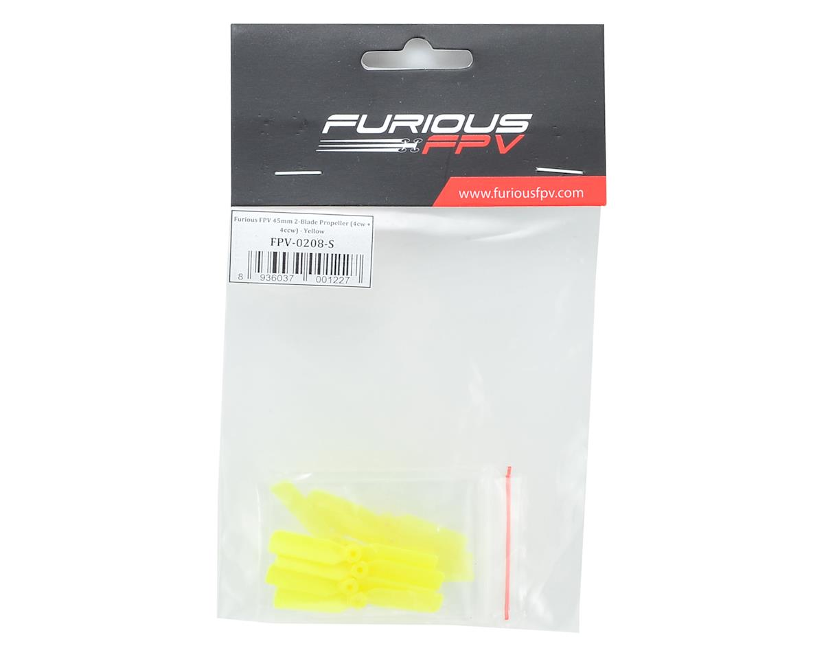 Furious FPV 45mm 2 Blade Prop (4CW/4CCW) (Yellow)