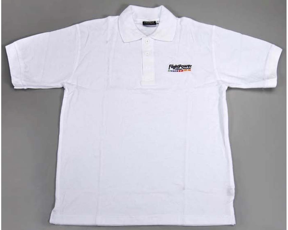"FlightPower Polo Shirt White XX-Large 46"""