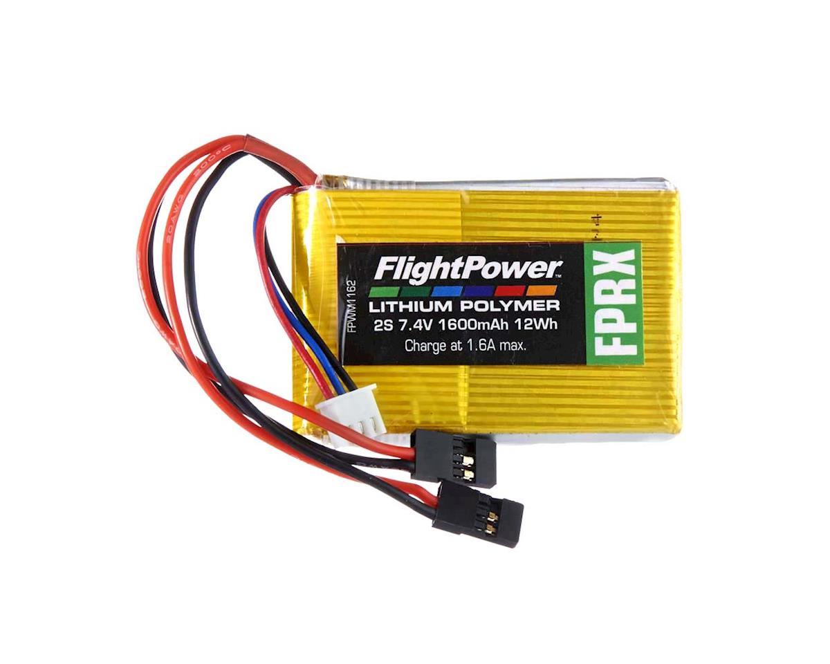 FlightPower LiPo FPRX 2S 7.4V 1600mAh Rx Universal Plugs