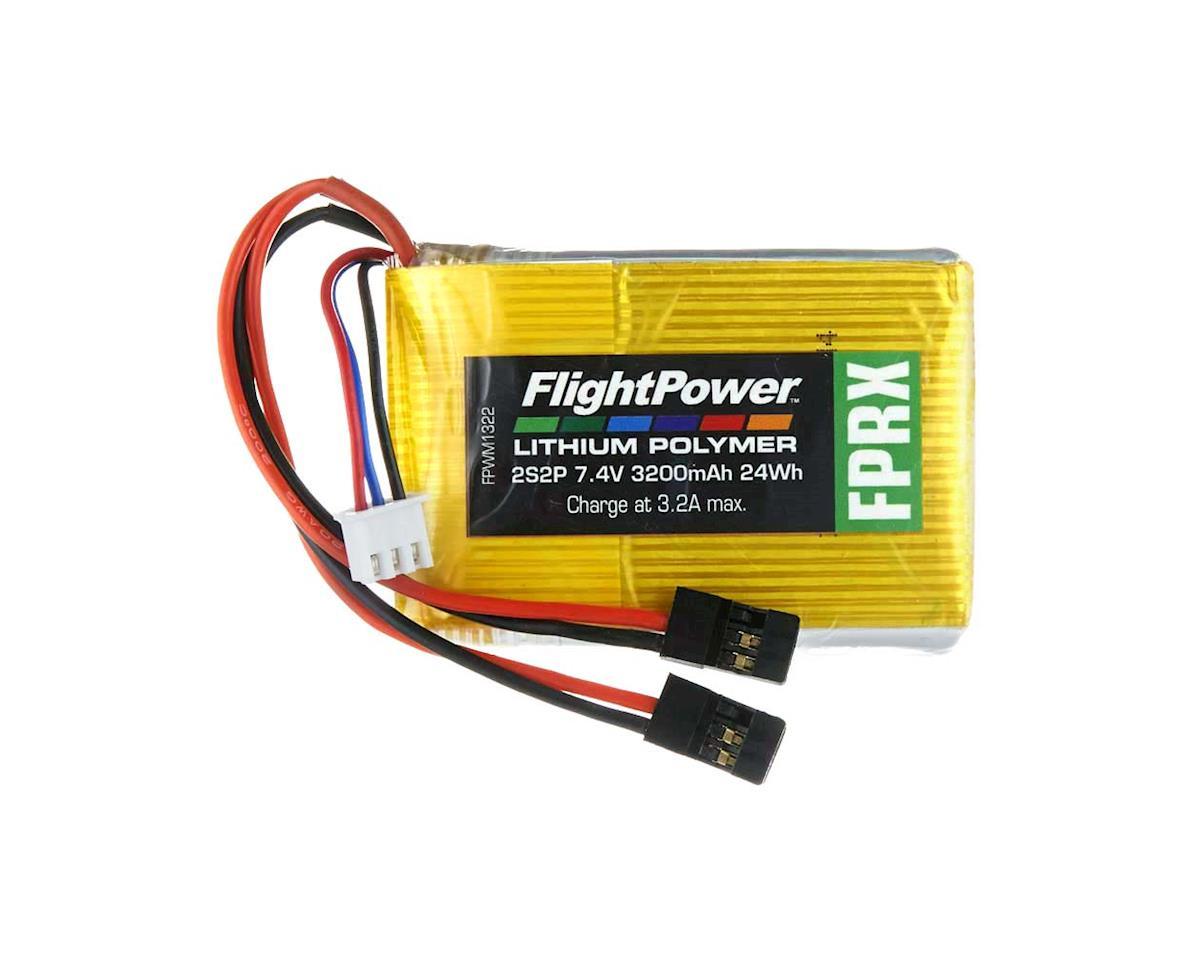 FlightPower LiPo FPRX 2S2P 7.4V 3200mAh Rx Universal Plugs