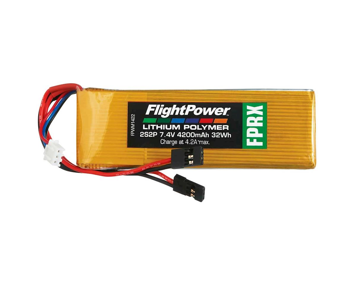 FlightPower LiPo FPRX 2S2P 7.4V 4200mAh Rx Universal Plugs