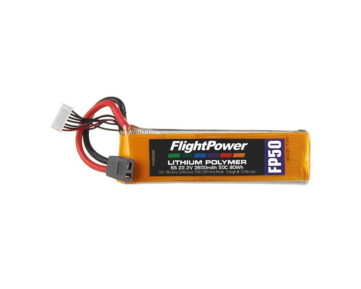 FlightPower LiPo FP50 6S 22.2V 3600mAh 50C Star Plug