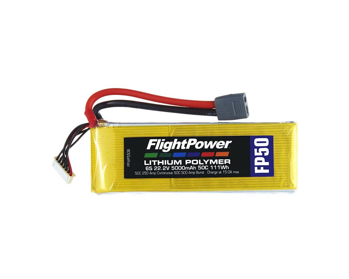 FlightPower LiPo FP50 6S 22.2V 5000mAh 50C Star Plug