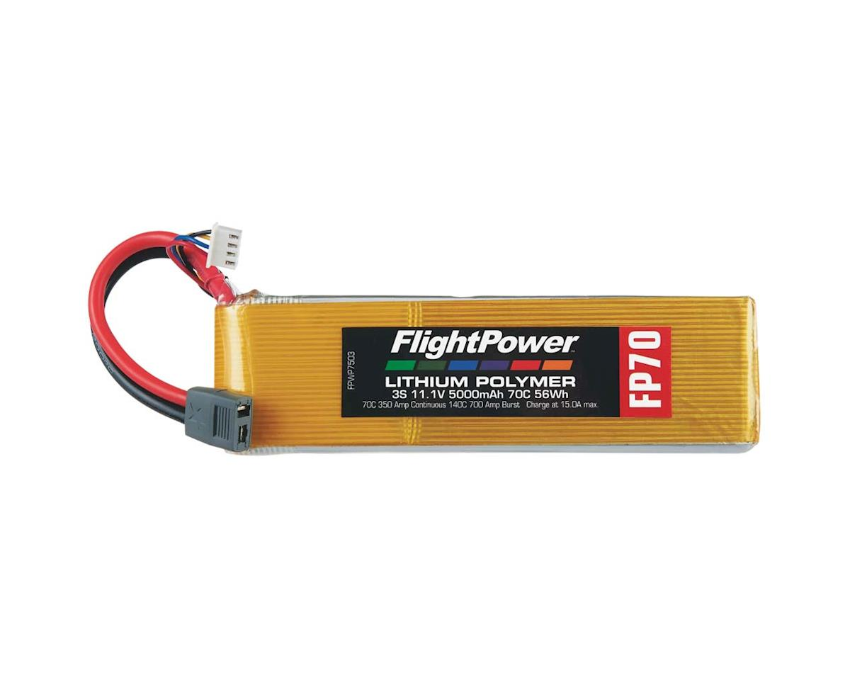 LiPo FP70 3S 11.1V 5000mAh 70C Star Plug by FlightPower