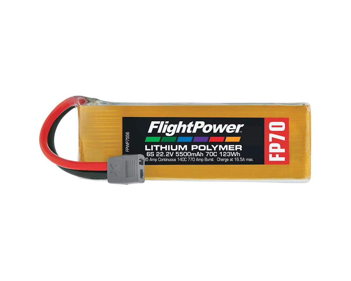 FlightPower LiPo FP70 6S 22.2V 5500mAh 70C Star Plug