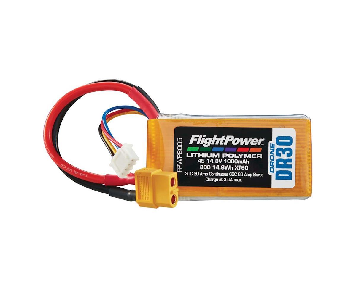 FlightPower LiPo Drone 4S 14.8V 1000mAh 30C XT60 Plug