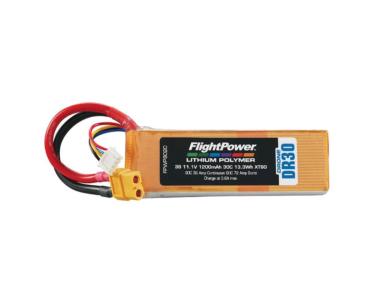 FlightPower LiPo Drone 3S 11.1V 1200mAh 30C XT60 Plug