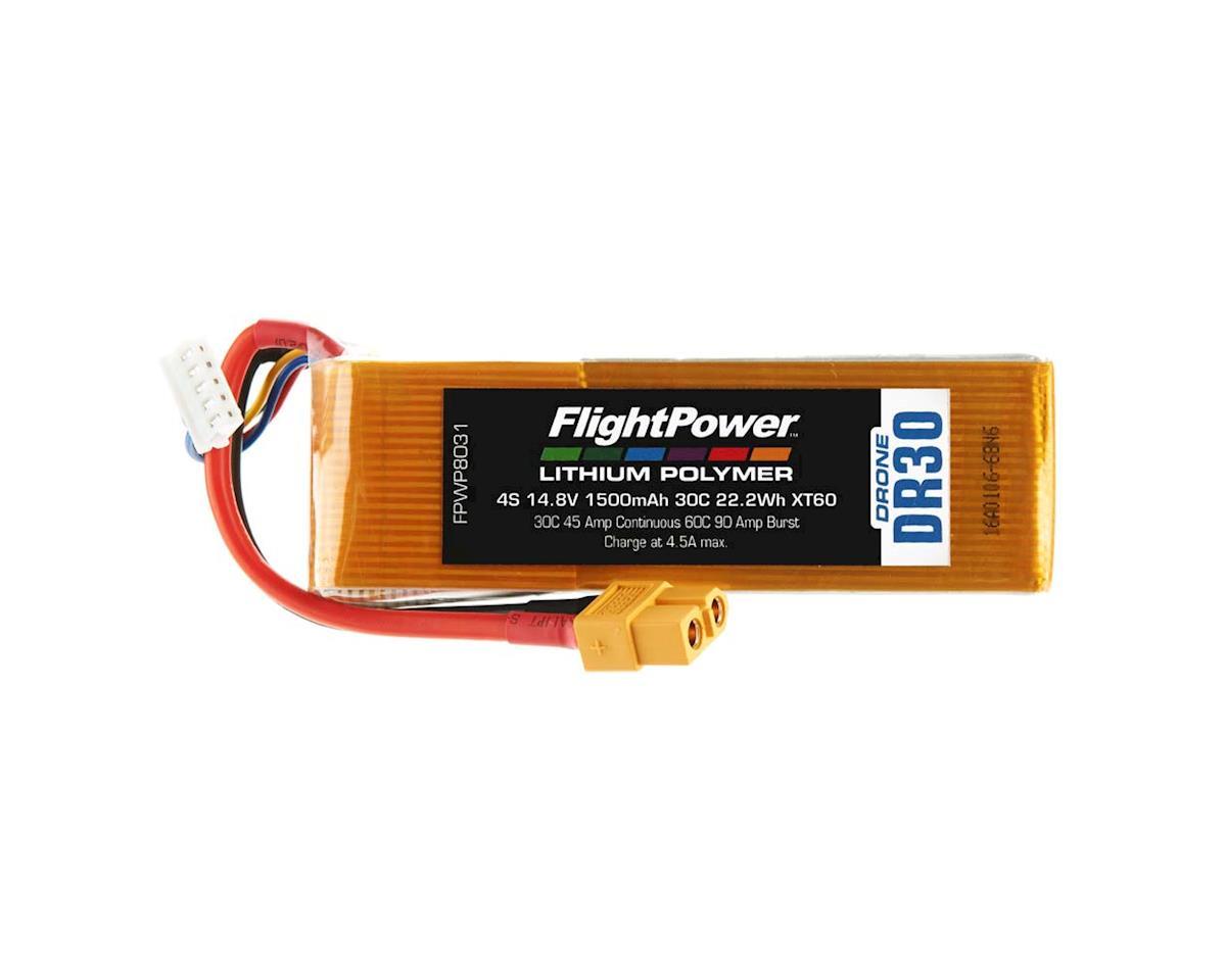 FlightPower LiPo Drone 4S 14.8V 1500mAh 30C XT60 Plug