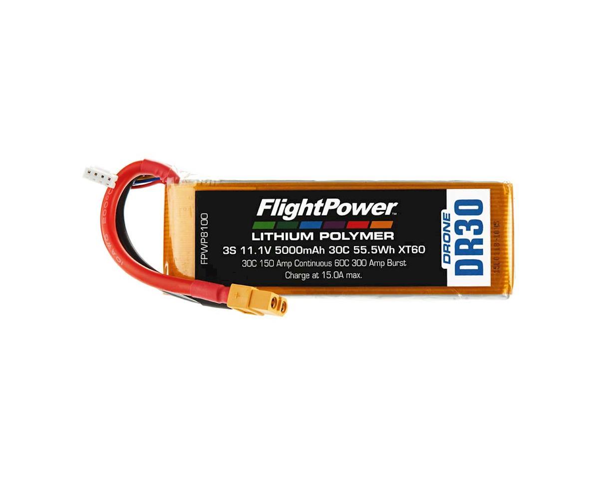 FlightPower LiPo Drone 3S 11.1V 5000mAh 30C XT60 Plug