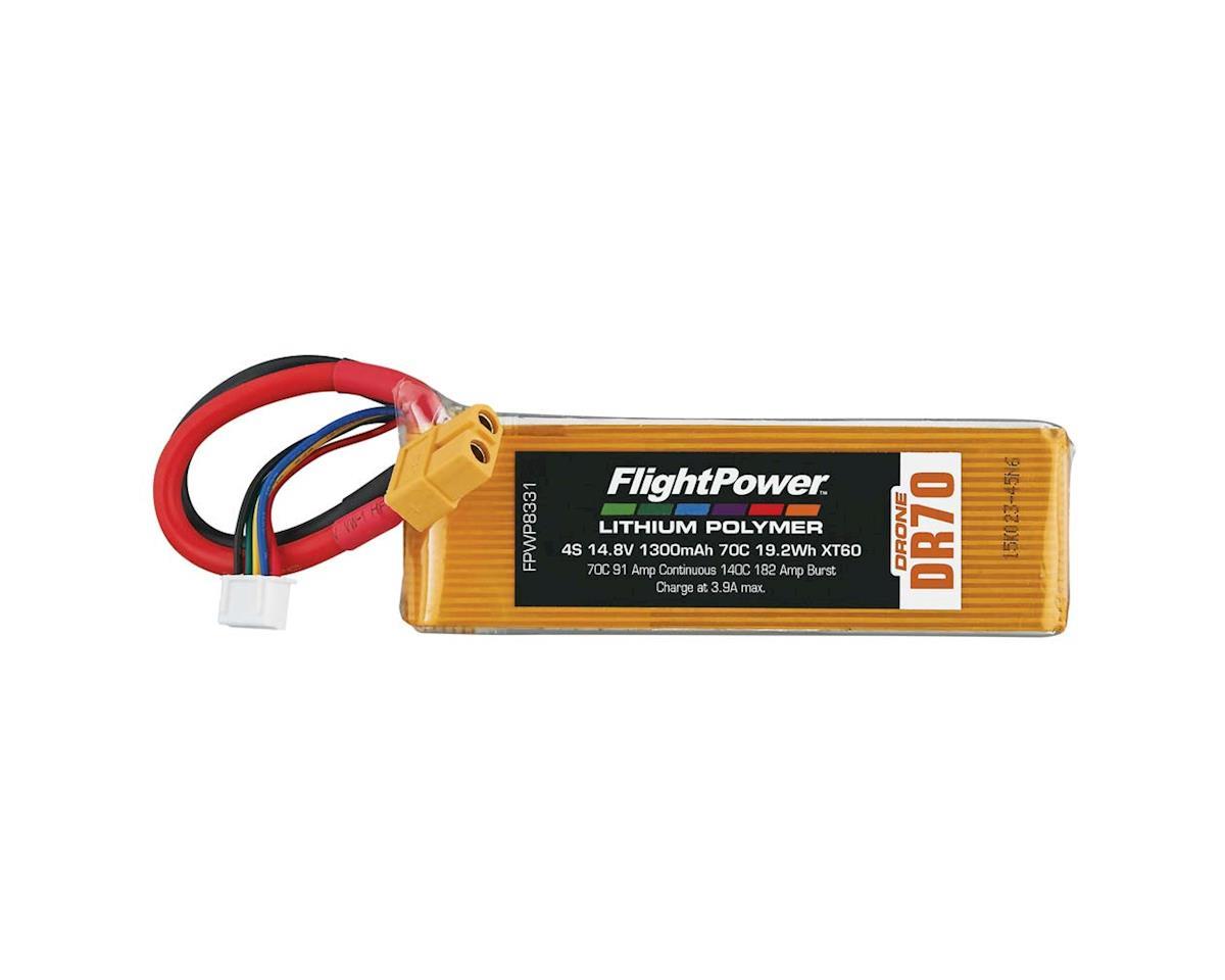 FlightPower LiPo Drone 4S 14.8V 1300mAh 70C XT60 Plug