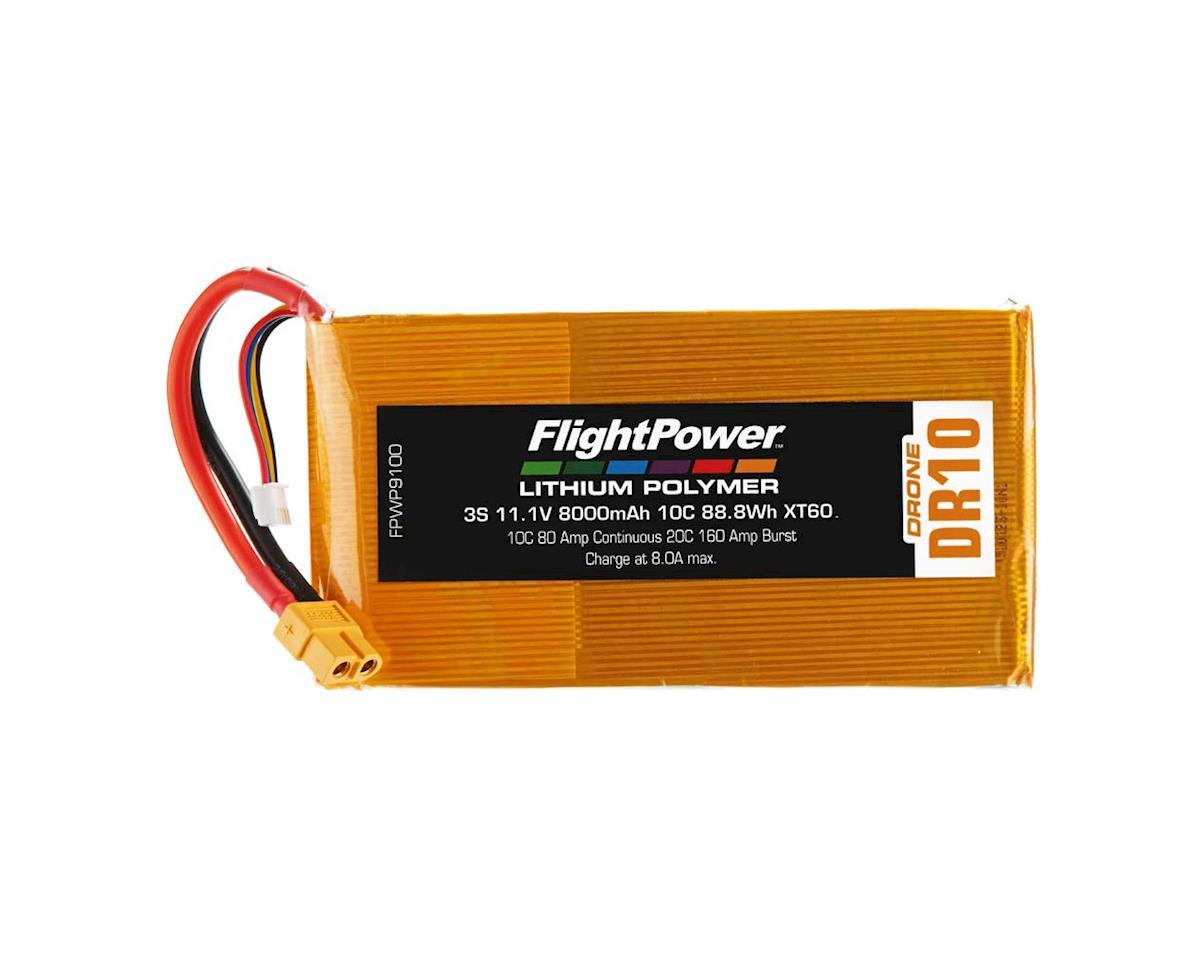 FlightPower LiPo Drone 3S 11.1V 8000mAh 10C XT60 Plug