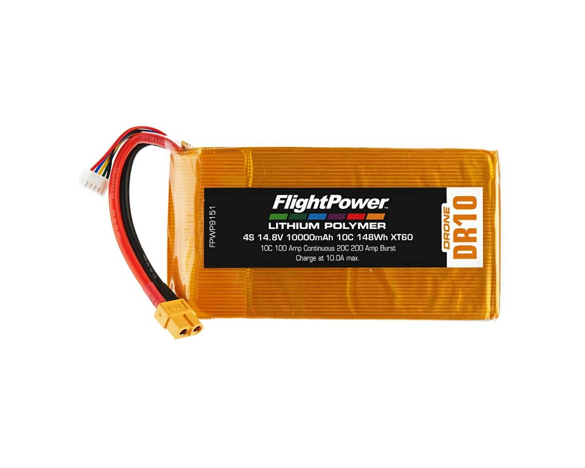 FlightPower LiPo Drone 4S 14.8V 10000mAh 10C XT60 Plug