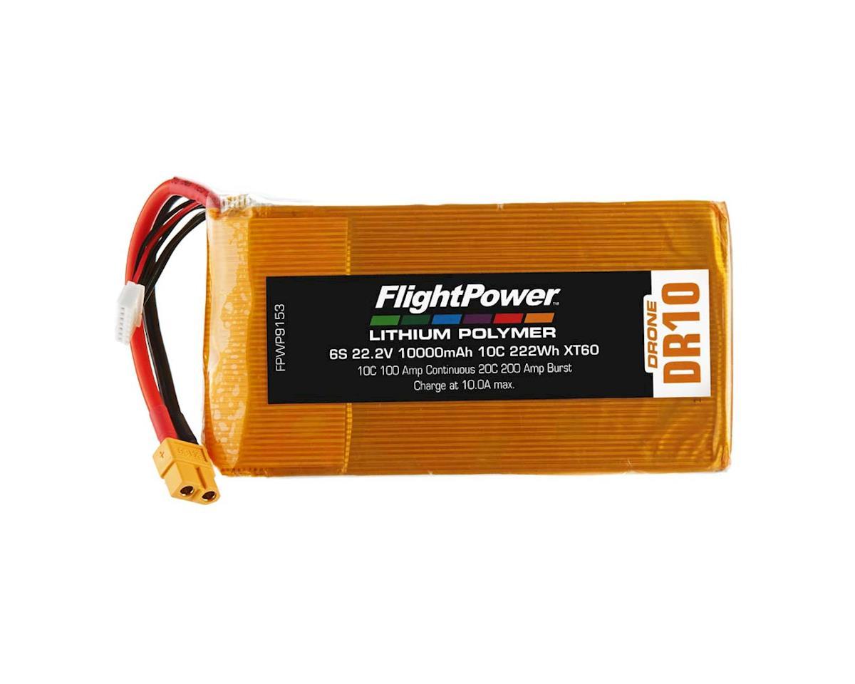 FlightPower LiPo Drone 6S 22.2V 10000mAh 10C XT60 Plug