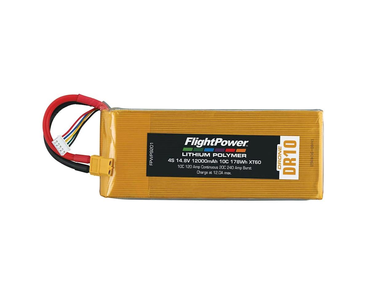 FlightPower LiPo Drone 4S 14.8V 12000mAh 10C XT60 Plug