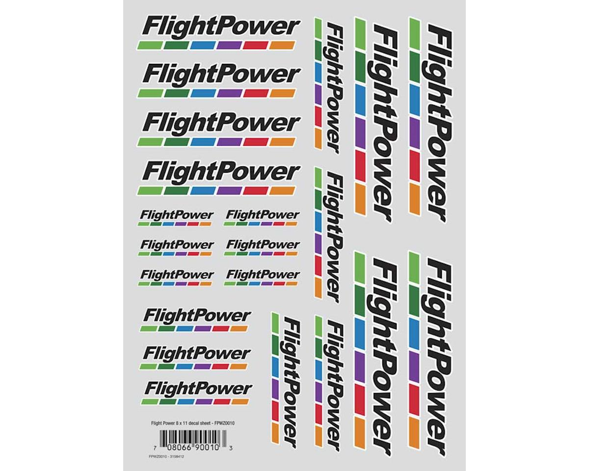 "FlightPower Flightpower Die Cut Decal Sheet 8x11"""