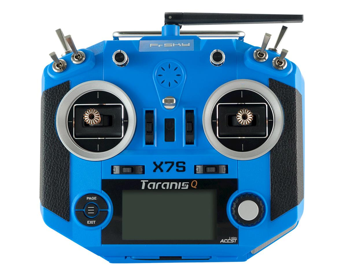 FrSky Taranis Q X7S Radio w/Upgraded M7 Hall Sensor Gimbals (Blue)