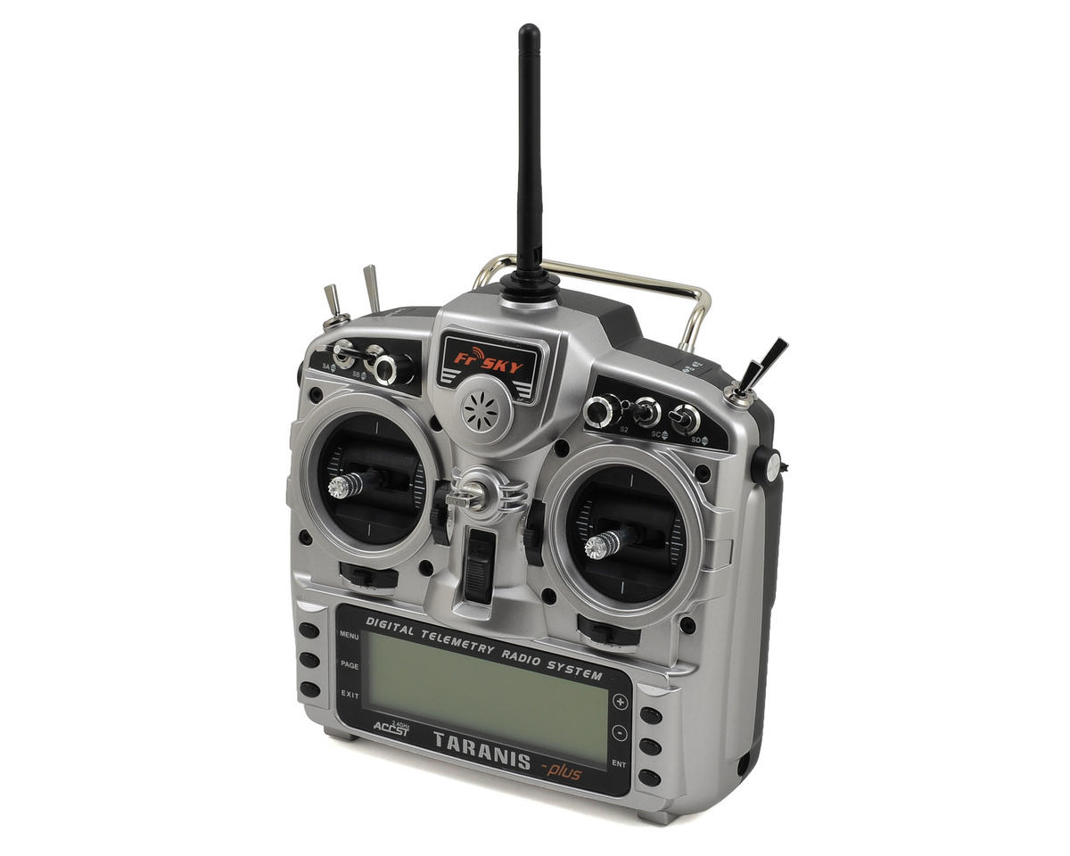 FrSky 2.4GHz ACCST Taranis X9D PLUS Telemetry Transmitter w/X8R Receiver & Case