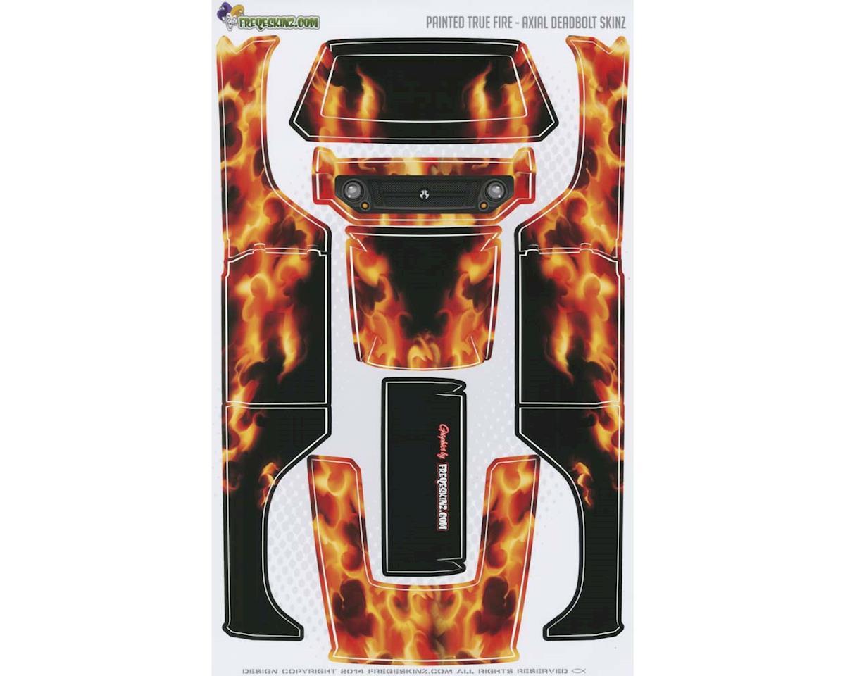 13018 sKinz Painted True Fire Design Axial Deadbolt by Freqeskinz