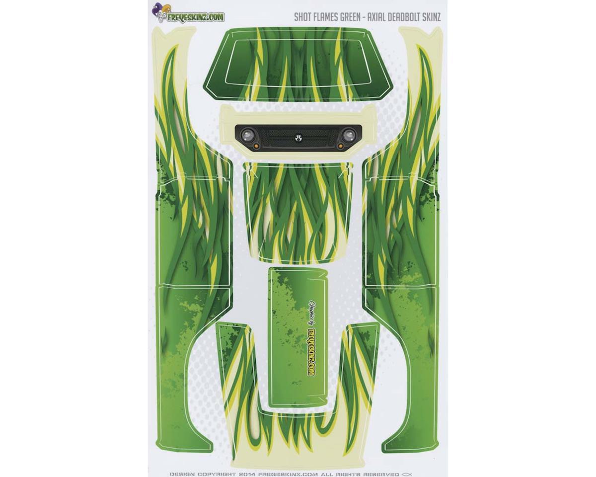 Freqeskinz sKinz Shot Flames Green Design Axial Deadbolt