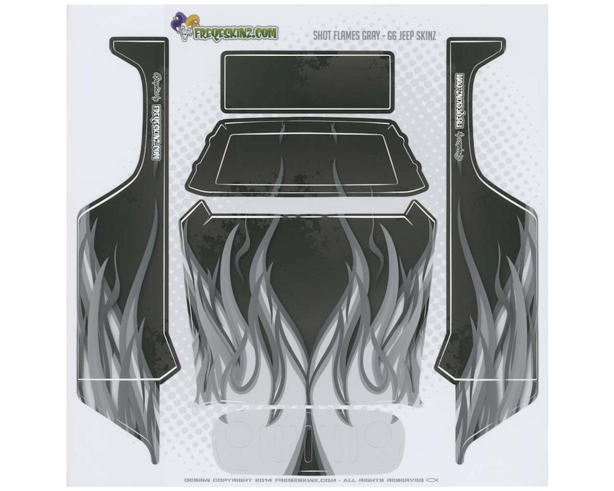Freqeskinz 15023 sKinz Shot Flames Gray Design Axial G6 Jeep
