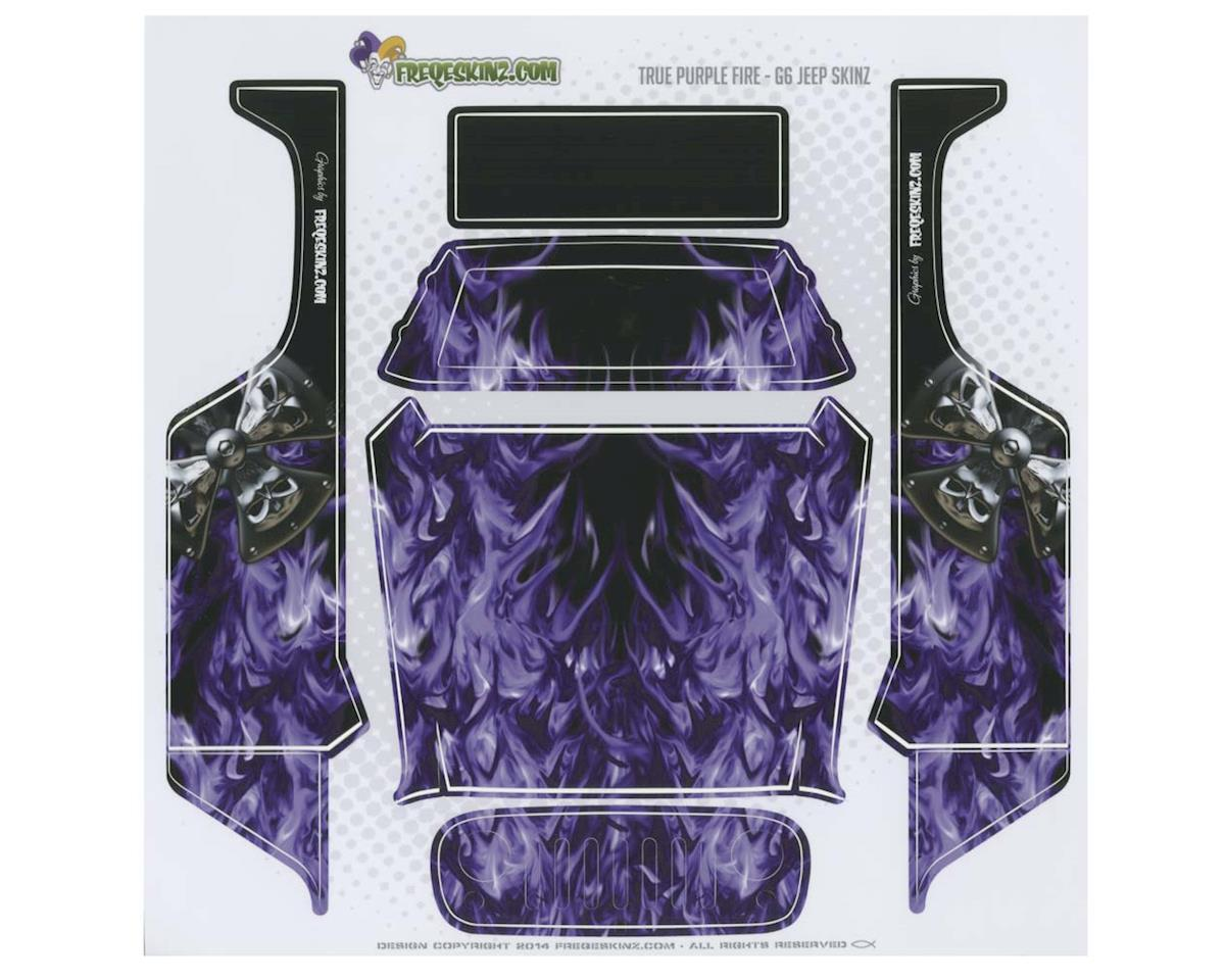 Freqeskinz 15031 sKinz True Fire Purple Design Axial G6 Jeep