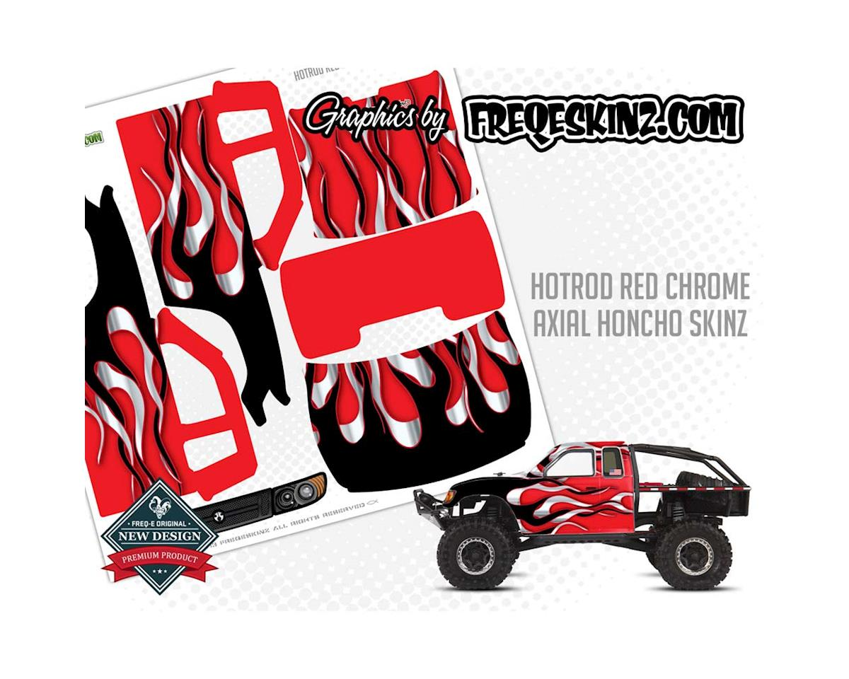 Freqeskinz sKinz Hotrod Red Chrome Design Axial Honcho